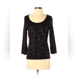 Eileen Fisher silk blend Sparkle Sequin top